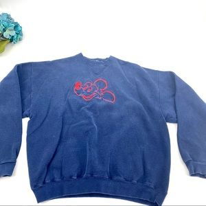 Vintage Tultex embroidered Mickey crew neck M